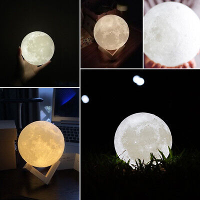 Dimmable 3D Magical Moon Lamp USB LED Night Light Moonlight Touch Sensor Lamp 12