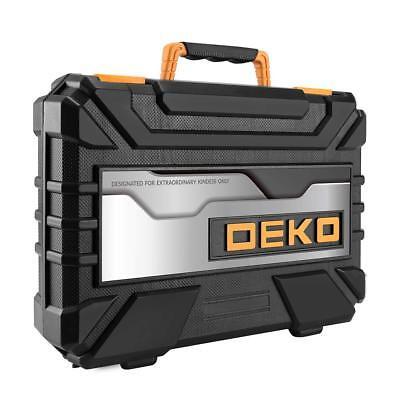 DEKO 128PC Mechanics Hand Tool Kit Set Deluxe Metric Socket Wrench Screwdriver