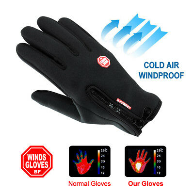 Cycling Touch Screen Gloves waterproof Outdoor Jogging Skiing Hiking Running AU 2