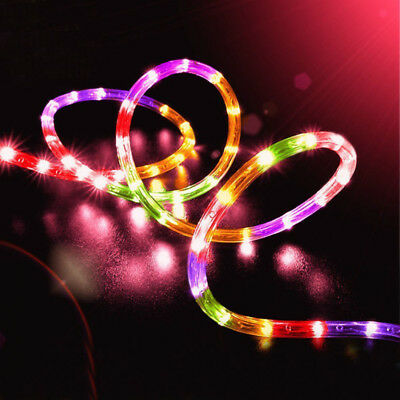 12M 100LED Waterproof Solar Power String Fairy Light Rope Tube Garden Lamp Xmas 4