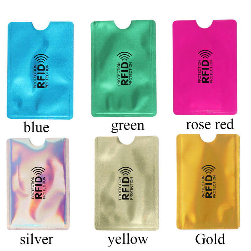 Credit Cards Card Holder Protect Case Cover RFID Blocking Sleeve Wallet 3