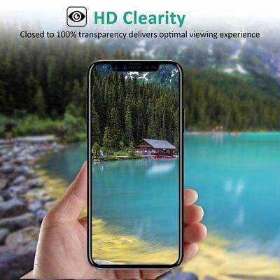 For Apple iPhone X XS Full Coverage Soft Edge 9H Tempered Glass Screen Protector 10