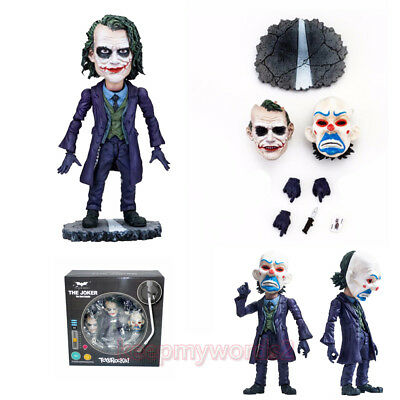 """ToysRocka DC Comics The Joker 4/"""" Action Figure The Dark Knight Changeable Faces"""