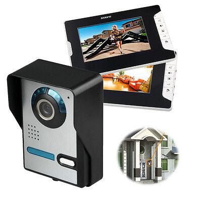 Video Gegensprechanlage Türsprechanlage Kamera 2x Monitor Klingel Sprechanlage D 2