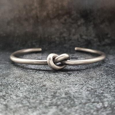 Bracciale uomo rigido nodo acciaio inossidabile da braccialetto in con inox 4