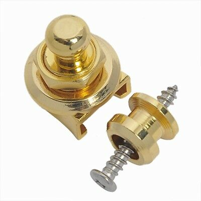 1 Pcs Golden Schaller-style Straplock Round Head Strap Lock Guitar Parts 3