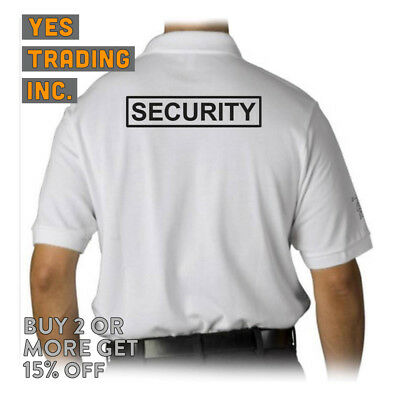 Mens Security Polo Shirt Law Enforment Police Shirts Safety Work Uniform Guard 5