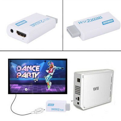 720P 1080P Full HD Wii to HDMI Video Converter 3.5mm Audio Adapter Upscaling AU 6