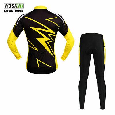Herren Langarm Radfahren Jersey gepolsterte Hose Set MTB Fahrrad Kleidung Kit