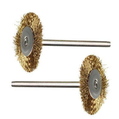 36pcs Wire Steel Brass Brushes Polishing Brush Wheels Set for Dremel Rotary Tool 4