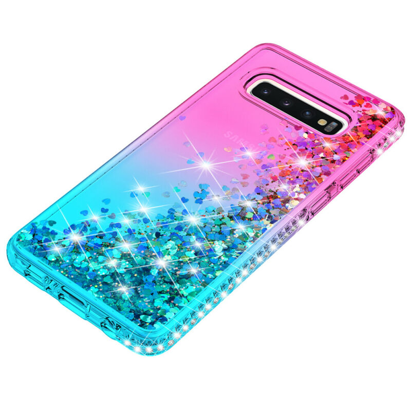 For Samsung Galaxy S9 S10 5G Plus + Note 9 10 Shockproof Cover Luxury Bling Case 5