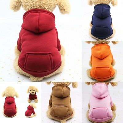 Pet Dog Cat Puppy Sweater Hoodie Coat For Small Pet Dog Warm Costume Apparel HOT 4