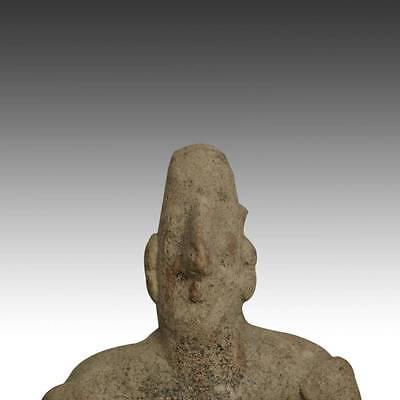 Pre-Columbian Terra Cotta Seated Figure Colima West Mexico 100 Bc - 300 Ad 5