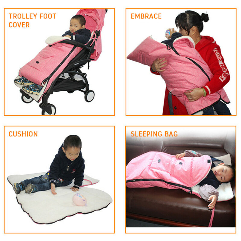 Universal Footmuff Pushchair Baby Cosy Toes Toddler Buggy Stroller Pram Long New 9