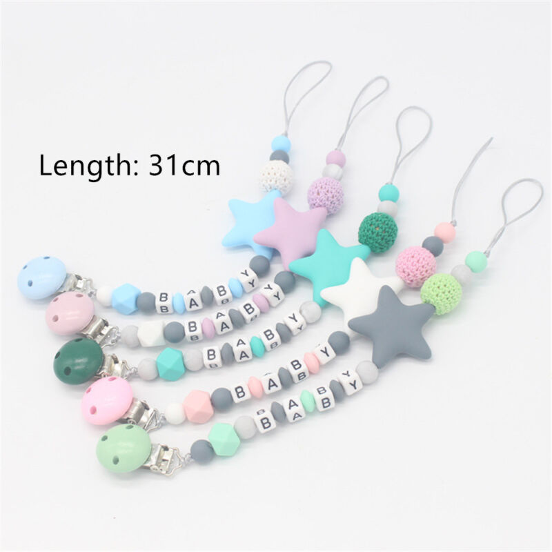 Baby Silicone Pacifier Chain Teething Soother Chew Toy Dummy Clips New Hot