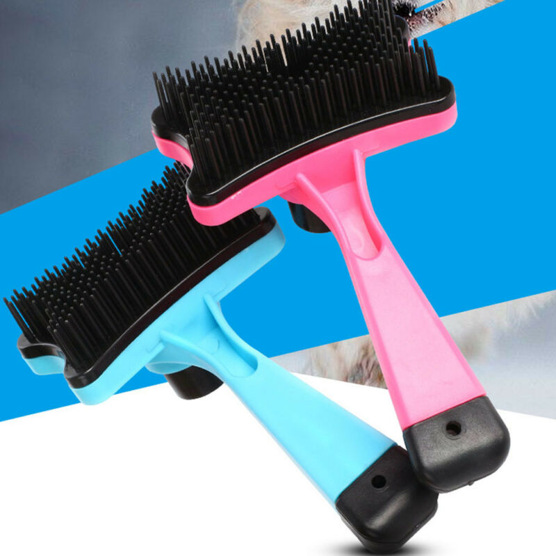 Pet Brush Dog Cat Puppy Hair Grooming Shedding Tool Comb Trimmer Bath Massage 8