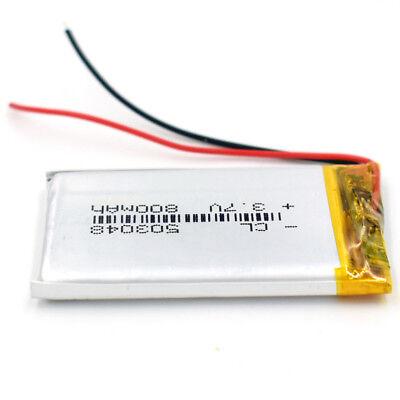 10Pcs 503048 3.7V 800 mAh Battery Rechargeable Li-Polymer LiPo for GPS Bluetooth 10