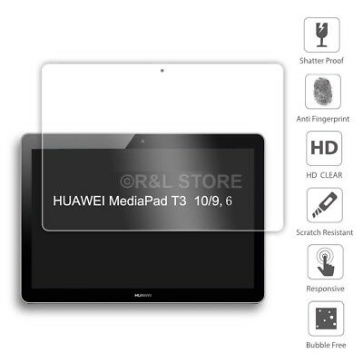 PELLICOLA VETRO TEMPERATO per Huawei MediaPad T3 10 TRASPARENTE CLEAR HD FULL 2