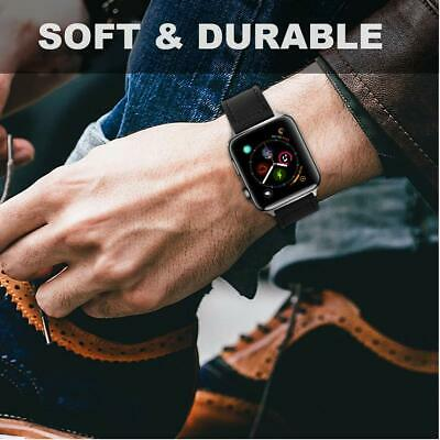 40/44mm Genuine Leather iWatch Strap for Apple Watch Band Series 4 3 2 1 38/42mm 11