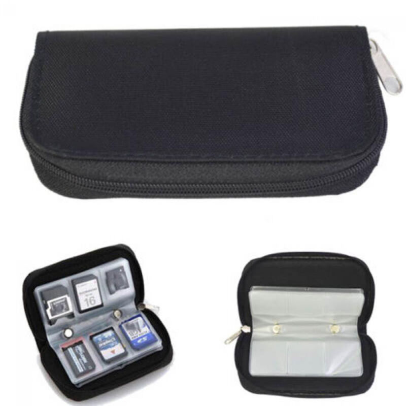 Memory Card Storage Carrying Pouch Case Holder Wallet For CF/SD/SD HC/MS/DS 4