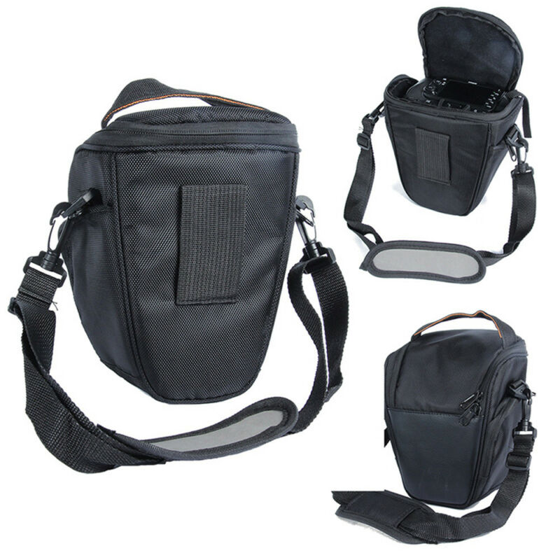 Triangle Black Camera Bag Backpack SLR Case for Canon Nikon Sony SLR DSLR Hot 2