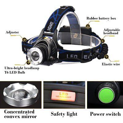 Waterproof 90000LM T6 LED Headlamp Headlight Flashlight Head Torch 18650 Camp 5