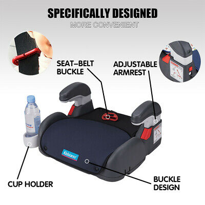 Car Booster Seat Chair Cushion Pad For Toddler Children Kids 3-12 Years Sturdy 8