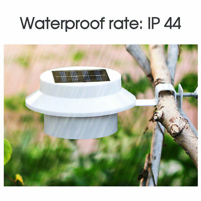 12x Solar Powered 3LED Fence Gutter Light Outdoor Garden Yard Wall Pathway Lamp
