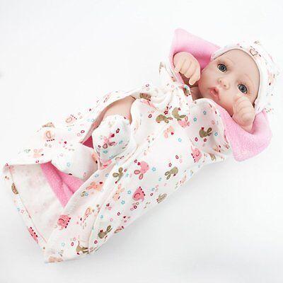 "Lifelike Twins Baby Dolls Full Vinyl Silicone Real Life Doll Babies Girl Boy 10"" 11"