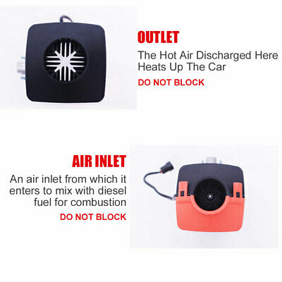 AU All IN One 5KW 12V Diesel Air Heater Thermostat For Caravan Motorhome Trailer 10
