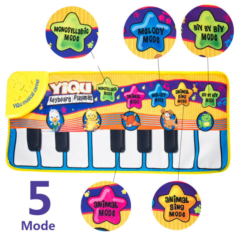 Kids Baby Musical Piano Play Mat Development Educational Soft Toys for Boy&Girl 2