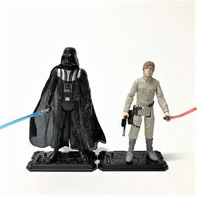 "Lot 2pcs Star Wars LUKE SKYWALKER & DARTH VADER 3.75"" Hasbro action figure toy 2"