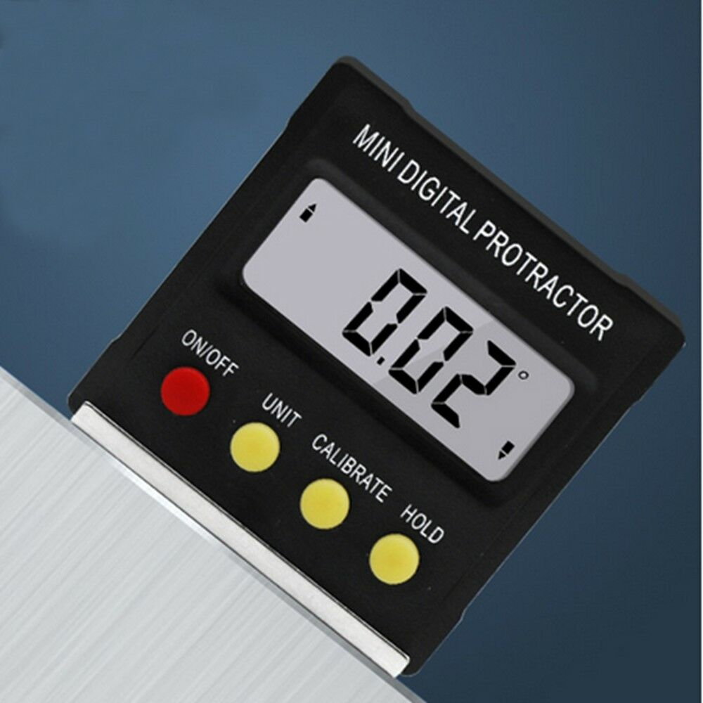 360˚ Mini Digital Protractor Inclinometer Angle Meter Slope Angle Upright Magnet 6