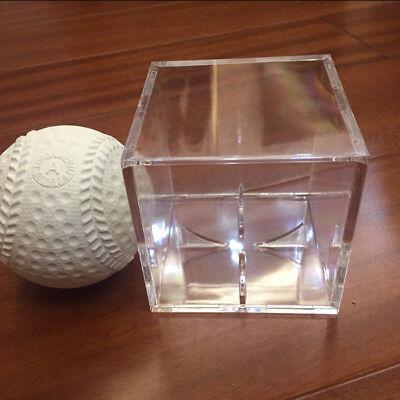 1X Acrylic Baseball Display Case Tennis Ball Care Cube Box Holder UV Protection 3