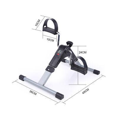 Mini Fitness Heimtrainer Fahrradtrainer Arm- und Beintrainer Bike Trimmrad LCD 10