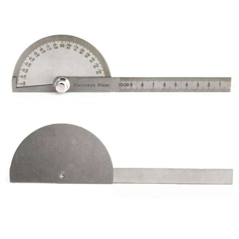 Stainless Steel 0-180 degree Protractor Angle Finder Arm Measuring Ruler Tool d 4