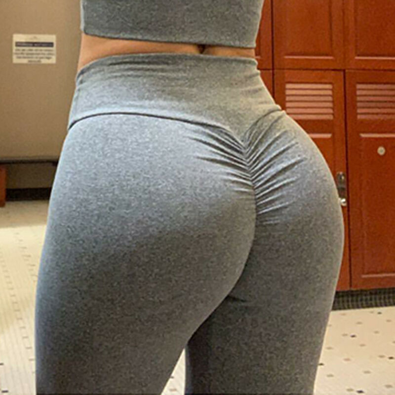 Women's Yoga Pants PUSH UP Fitness Leggings Sports Scrunch Stretch Trousers G78 5