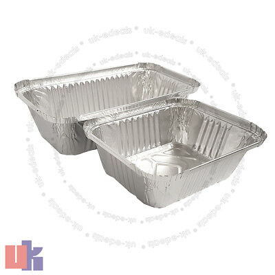 Aluminium Foil Hot Food Containers Box With Lids Perfect For Home Takeaway Use 2