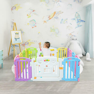 Baby Playpen Kids 14 Panel Activity Centre Safety Play Yard Home Indoor Outdoor 5