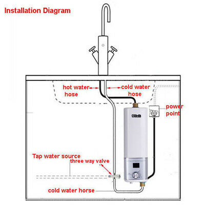 Electric Water Heater Portable Camping Outdoor Shower Instant Hot Water System 9