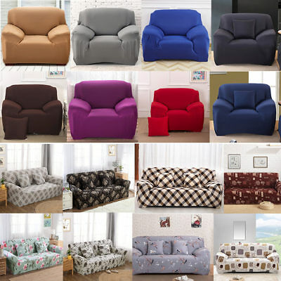 1/2/3 Seater Home Soft Elastic Sofa Cover Easy Stretch Slipcover Protector Couch 2