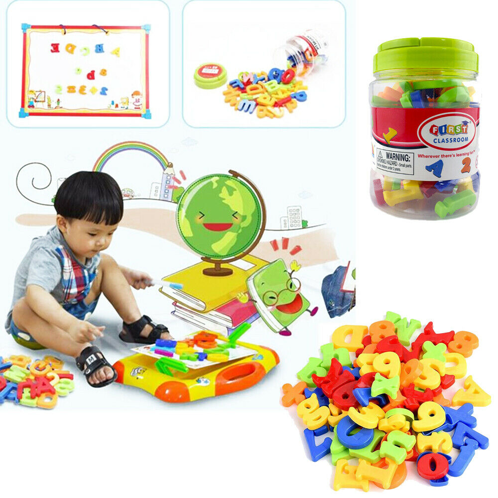 78PCS Magnetic Numbers Letters Alphabet Learning Toy Fridge Magnets Xmas gift 8