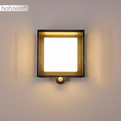 LED Terrassen Einfahrt Haus Tür Hof Leuchten Anthrazit Außen Wand Lampen Sensor