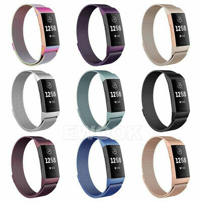 For Fitbit Charge 3 Band Metal Stainless Steel Milanese Loop Wristband Strap AU 2