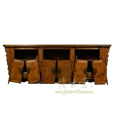 Antique Chinese Rustic Long Sideboard/Buffet Table, Credenza 4