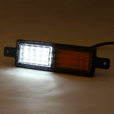 2X Sealed Bullbar Lights Set Front Indicator Park LED Bull Bar Light 10