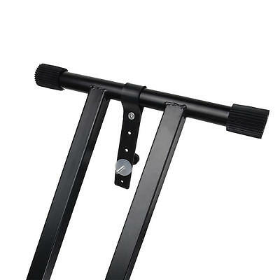 X Style Pro Dual Music Keyboard Stand Electronic Piano Double 2-Tier Adjustable 6