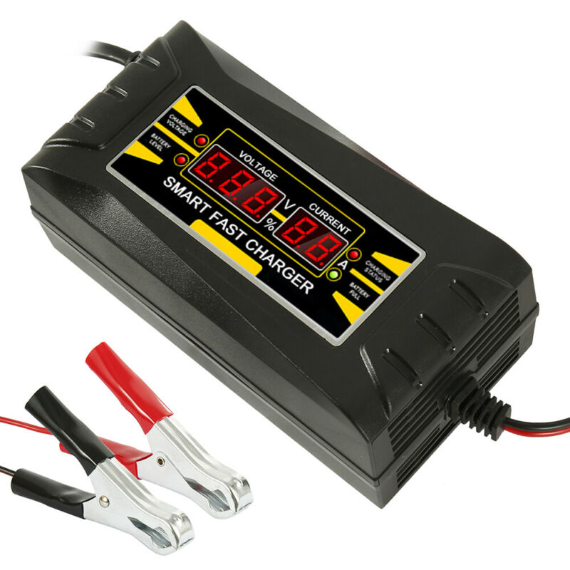 12V 10A Automatic Intelligent Smart Car Battery Charger Lead Acid GEL LCD 10