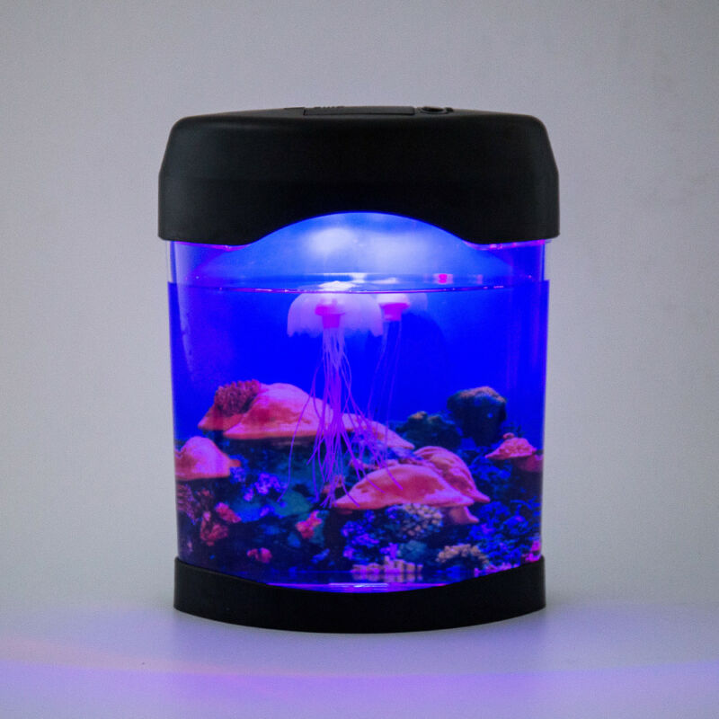 Aquarium Lumière Changeant Humeur Jellyfish Lampe Style Couleur Led Relaxant IbeED29YWH
