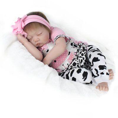 "22"" Handmade Reborn Baby Doll Newborn Lifelike Silicone Vinyl Kids Birth Gifts 10"